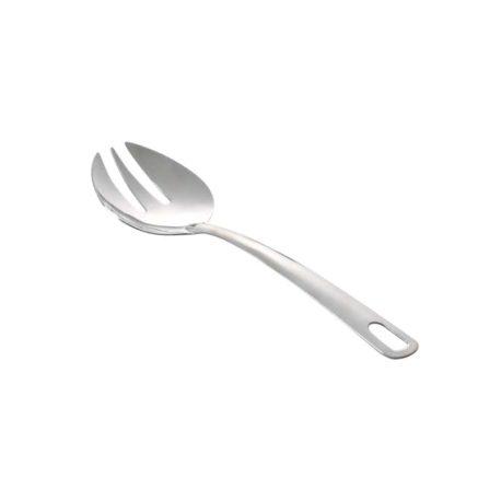 El tenedor de servicio corto para ensalada esta fabricado en acero inoxidable 430-2B de alta resistencia, su diseño lo hace ideal para todo tipo de ocasión.